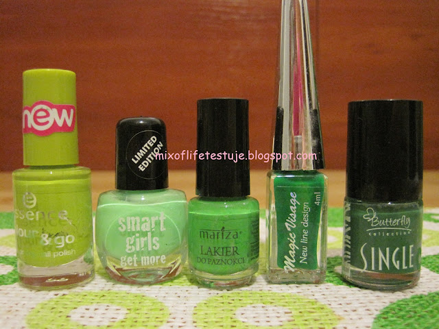 Essence 39 lime up!,smart girls get more 55,Mariza 41,Magic Visage,Single 404