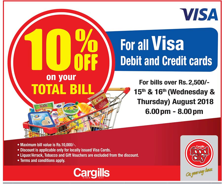 10% Off On Total Bill at Cargills