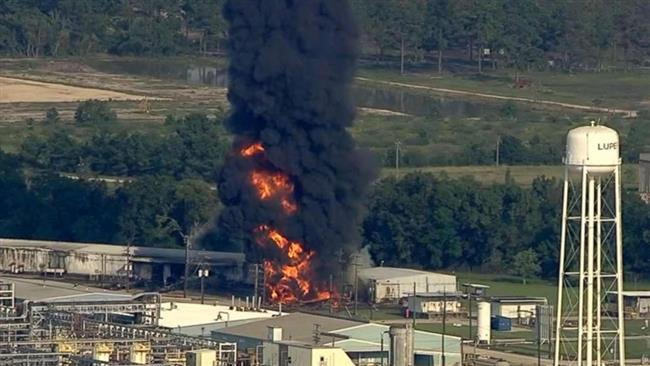 Fresh flames and smoke engulf Arkema Inc. chemical plant in Texas