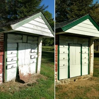Getz Dry House at Landis Valley Before and After preservation