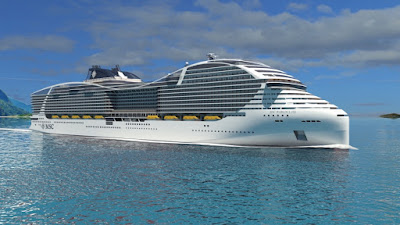 MSC Cruises Reveals Rendering of 200,000 ton New LNG Ship