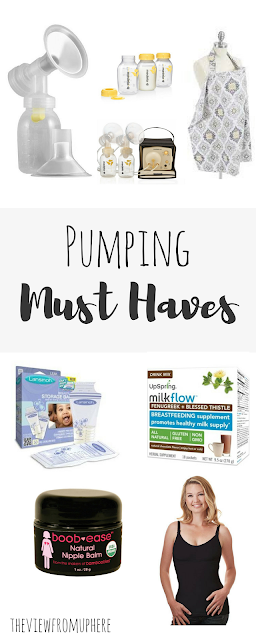 Pumping Must Haves, Breastfeeding Must Haves