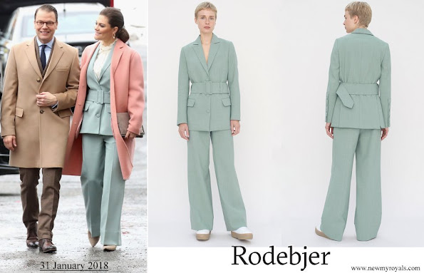 Crown-Princess Victoria wore RODEBJER blazer anitalia suit