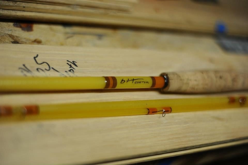 93a652cf5 Blue Halo custom fiberglass fly rod builds start at $450 and include Lemke  Concepts hardware and premium wood insert.