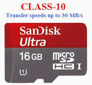 Hurry!!! Loot Deal: SanDisk Ultra Micro SDHC Card 16GB Class 10 (High Speed Data Transfer) worth Rs.1341 for Rs.391 Only at Infibeam