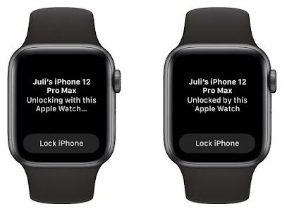 Unlock iPhone menggnakan Apple Watch