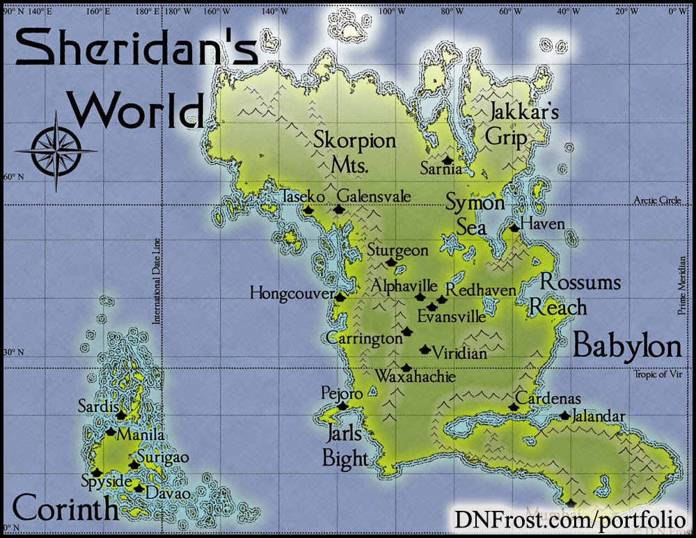 Image from Completion of Babylon: wrapping up with polar ice http://www.dnfrost.com/2015/06/sheridans-completion-map-commission.html A map commission by D.N.Frost for Stephen Everett @DNFrost13 Part 4 of a series.