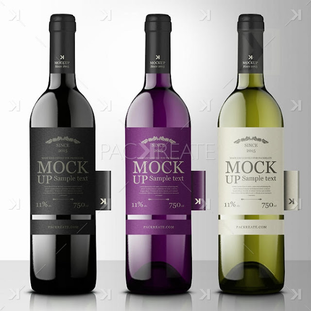 Premium Wine Mockup with Side Tags