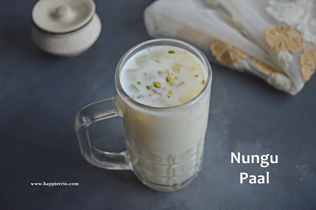 Nungu Paal Recipe| Ice Apple Milk | Ice Apple Recipes