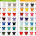 Katalog Warna Kain Cotton Combed & Lacoste