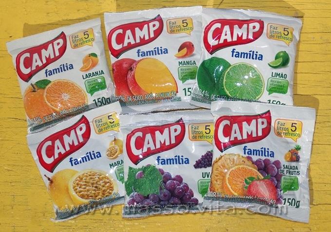 Refresco em pó Camp