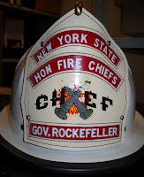 A fireman's helmet.