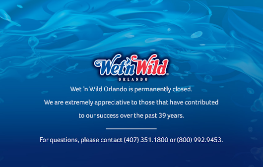 Universal Orlando- What is happening with Wet'N'Wild