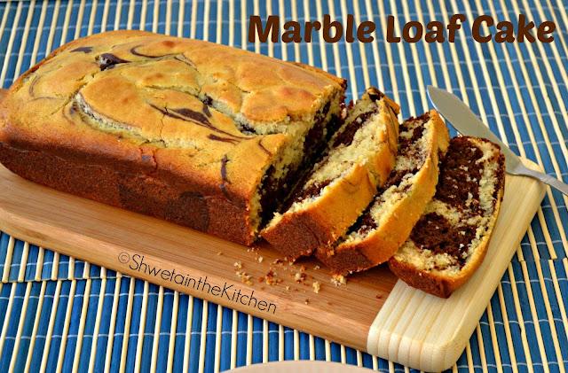 Shweta In The Kitchen Eggless Marble Loaf Cake Vanilla