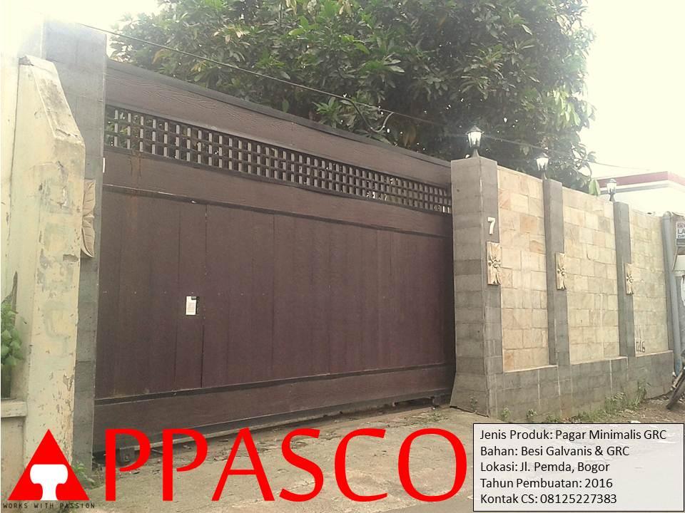 Pagar Gerbang Rumah di Pemda Bogor