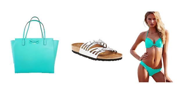 Kate Spade Tote, Birkenstock Granada Sandal, Victoria's Secret Swimsuit, Lifestyle Blogger, College Blogger