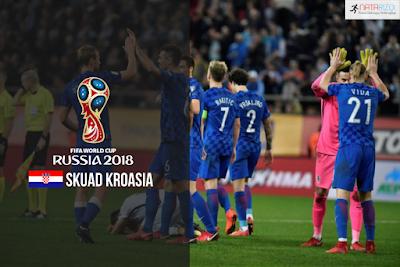 Skuad Susunan Pemain Kroasia di Piala Dunia 2018