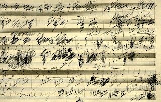 Manuscrito da Sonata para Violoncelo, op 69