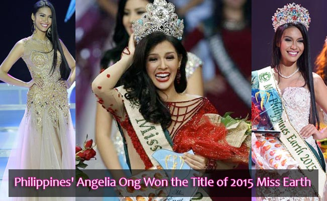 Philippines' Angelia Ong Won the Title of 2015 Miss Earth