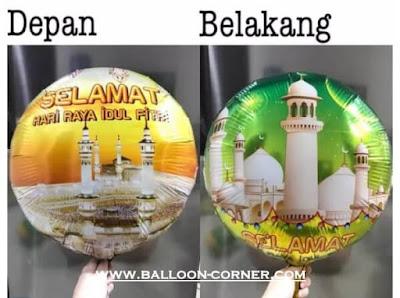 Balon Foil Bulat SELAMAT HARI RAYA IDUL FITRI