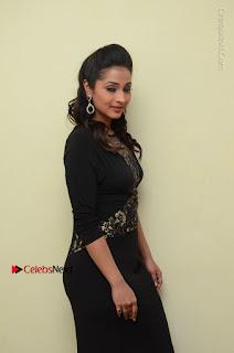 Telugu Actress Manasa Manohar Stills in Black Long Dress at Naku Nene Thopu Turumu Trailer Launch  0040.JPG