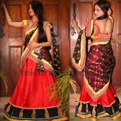 Latest-indian-bridal-lehenga-sarees-2017-with-new-blouse-designs-1