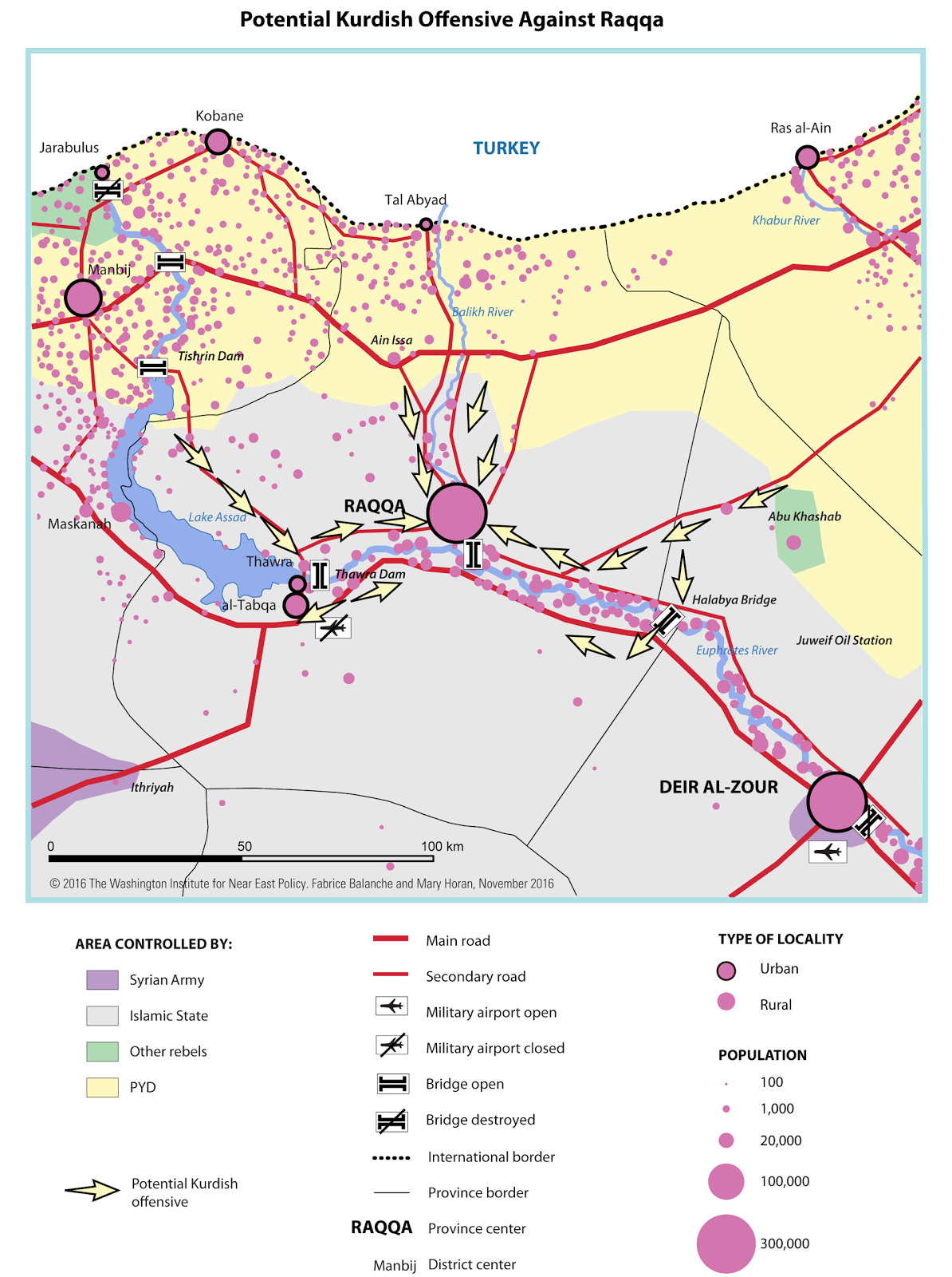 article roads to raqqa potential turkish and kurdish offensives by fabrice balanche