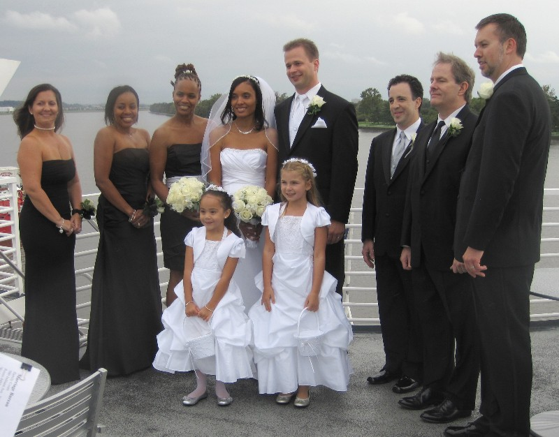 The Wedding Took Place On Spirit Of Washington A Boat Potomac River It Was Supposed To Take Deck But Since Temperature