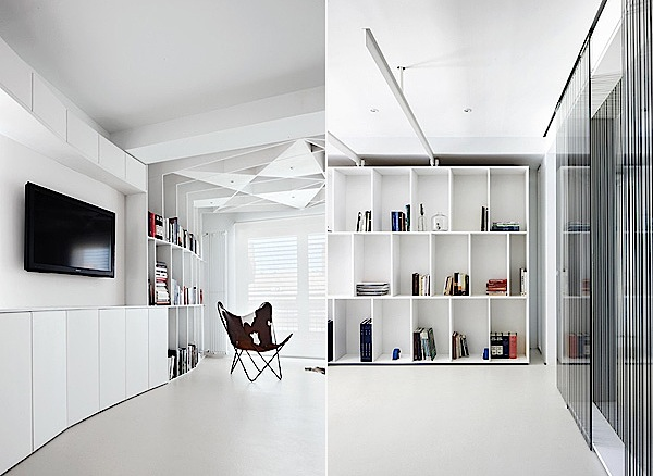White Color Can See An Example Of A Futuristic Home Interior Design