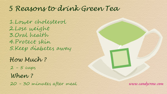 5 Reasons to Drink Green Tea, how much green tea should we drink, when should drink green tea