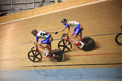 Track cycling sling on Cervelo bikes at Madison of Melbourne