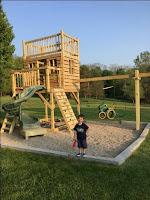 Casas de juegos de madera para niños