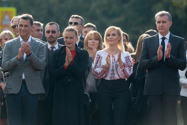 Princess Stephanie of Monaco, Prince Radu of Romania, Bucharest Mayor Gabriela Firea, Princess Margareta at Circus Park