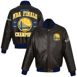 Golden St. Warriors Champions leather jacket, golden st champs jacket, golden state warriors leather jacket