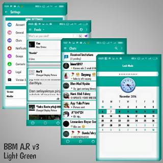 BBM Mod Tema Line Apk 3.1.0.13 AR v3 LightGreen