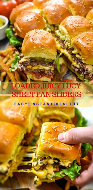 LOADED JUICY LUCY SHEET PAN SLIDERS