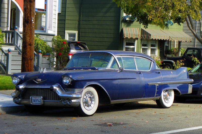 california streets: alameda street sighting - 1957 cadillac sedan