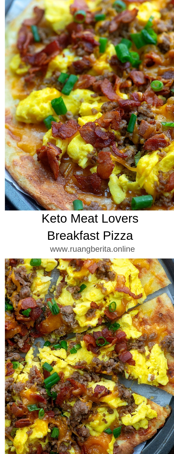 Keto Meat Lovers Breakfast Pizza