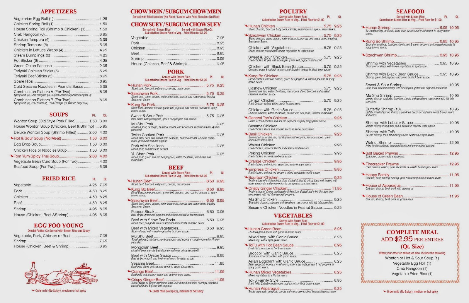 Sixth And Pine Menu