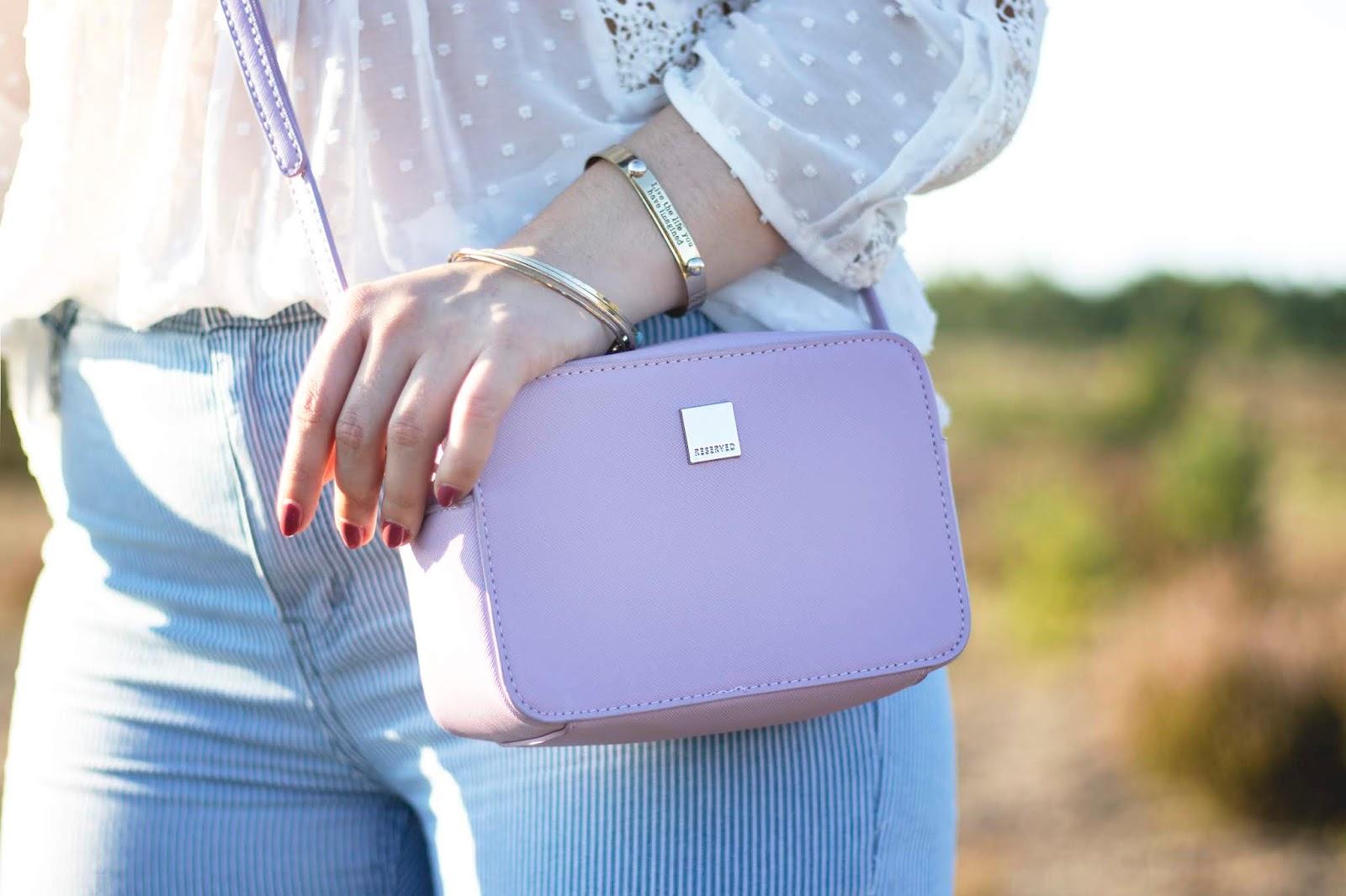 mała fioletowa liliowa torebka Reserved