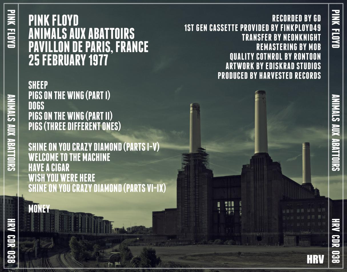 Pink floyd animals - Pink Floyd Animals Aux Abattoirs 2013 Harvested Records Hrv Cdr 038 In The Flesh 1977 Tour Pavillion De Paris Paris France
