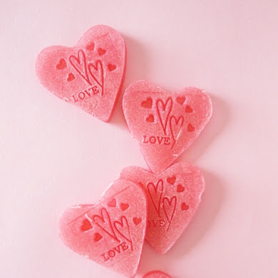 DIY and Sparkly Heart Soap Handmade Gift