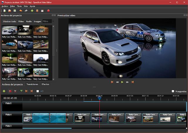 OpenShot Video Editor 2.4.3 | Crea tus propias películas con fotos, videos y añade transiciones, efectos y música