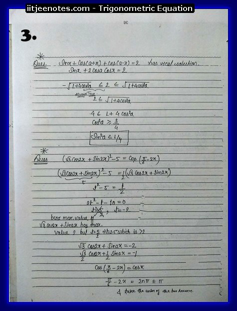 Trigonometric Equation Notes3