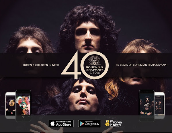 ¡Descarga la nueva App de Bohemian Rhapsody iTunes y Google Play y apoya a Children in Need BBC!