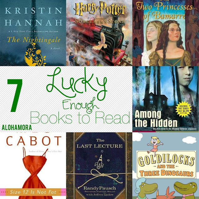 7 Books you are lucky enough to read.  All of these books are amazing books, make great read alouds for teachers, librarians, and parents, and some of the very best books around.  Alohamora Open a Book www.alohamoraopenabook.blogspot.com books for boys, girls, picture books, middle grade, juvenile lit, ya, young adult, teen, adult fiction, kidlit, nonfiction, amazing books, clean reads