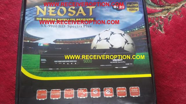 NEOSAT SX-9900 HD SPECTRA PLUS RECEIVER BISS KEY OPTION