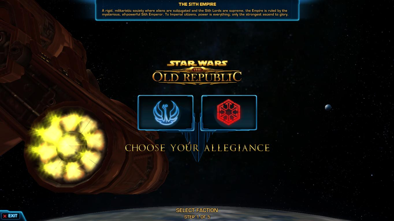 The Old Republic. Phase 1: Making Your Character -