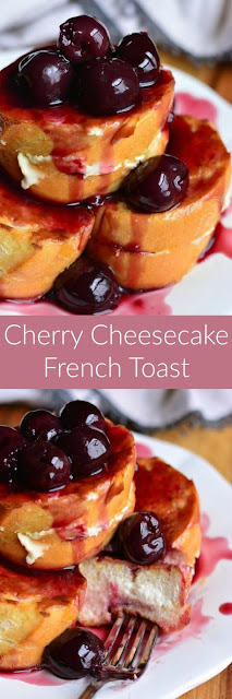Cherry Cheesecake Stuffed French Toast