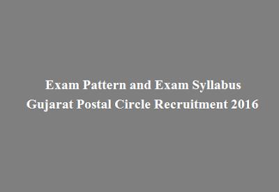 Exam Pattern and Exam Syllabus of Gujarat Postal Circle Recruitment 2016